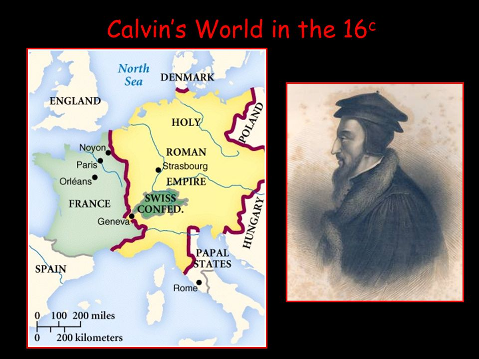 Calvin's World in the 16 c