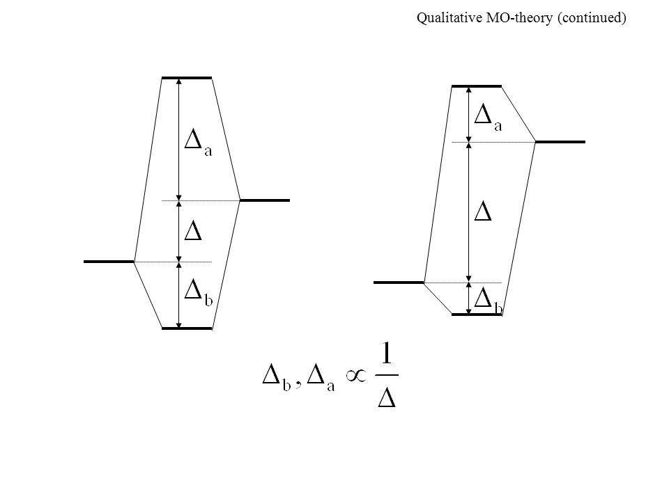 Qualitative MO-theory (continued)