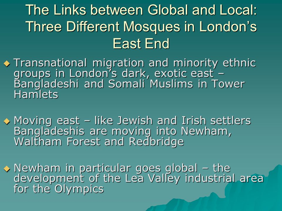Brick Lane Mosque, E. London: Multicultural Succession and a Community Mosque?
