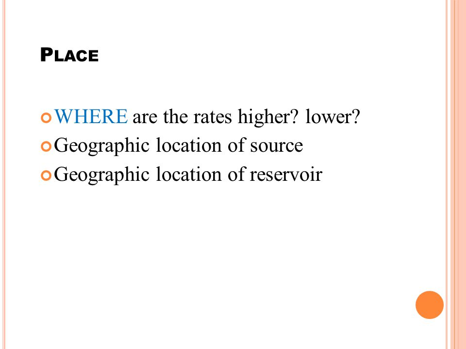 P LACE WHERE are the rates higher.lower.