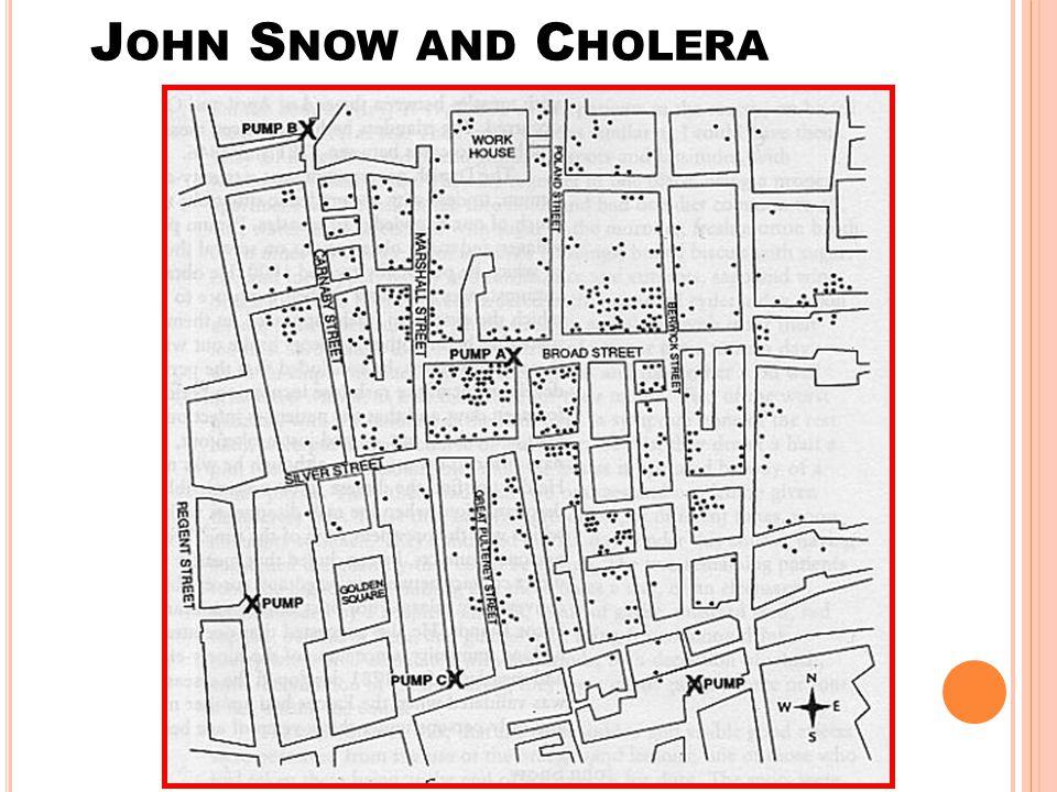 J OHN S NOW AND C HOLERA