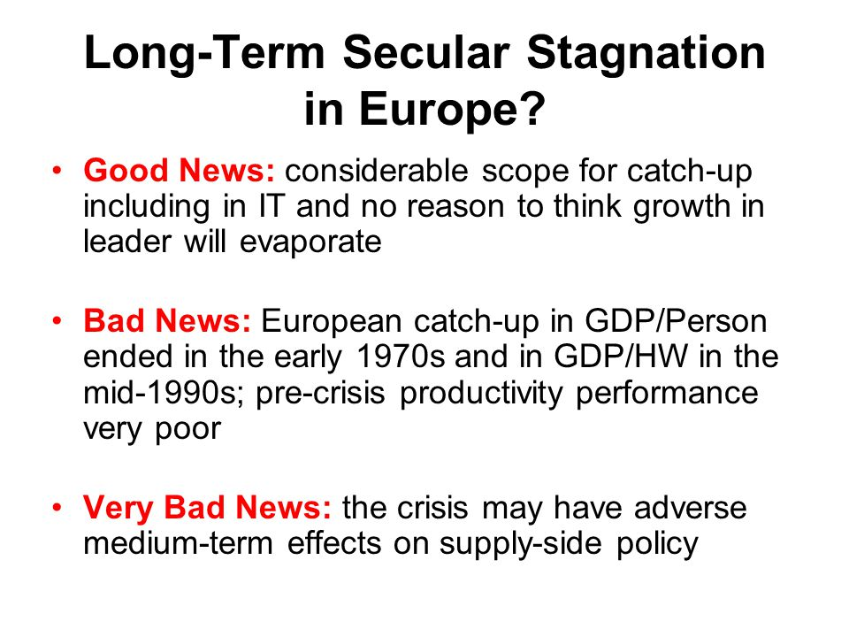 Long-Term Secular Stagnation in Europe.