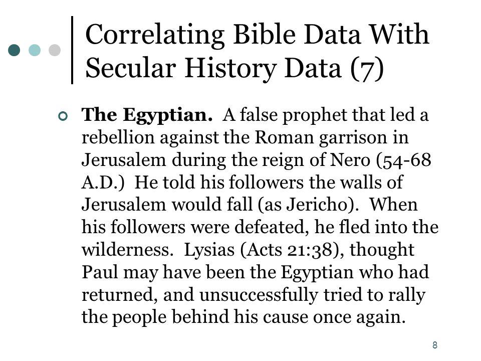 9 Correlating Bible Data With Secular History Data (8) Ananias.