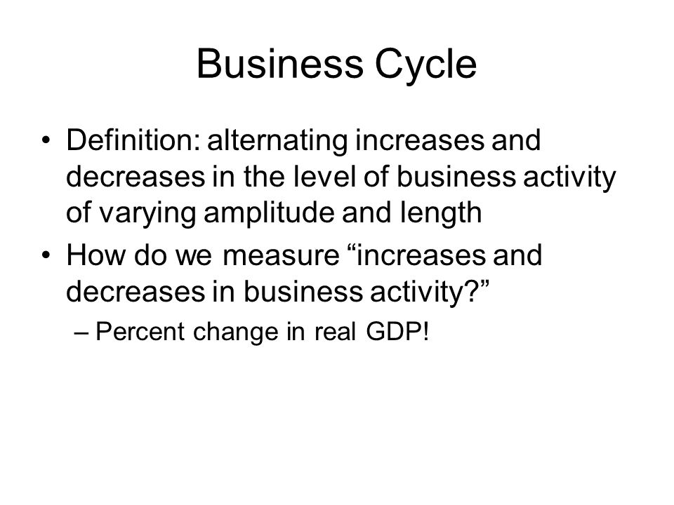 Business Cycle Theories Endogenous theories: –Innovation theory: innovation leads to saturation.