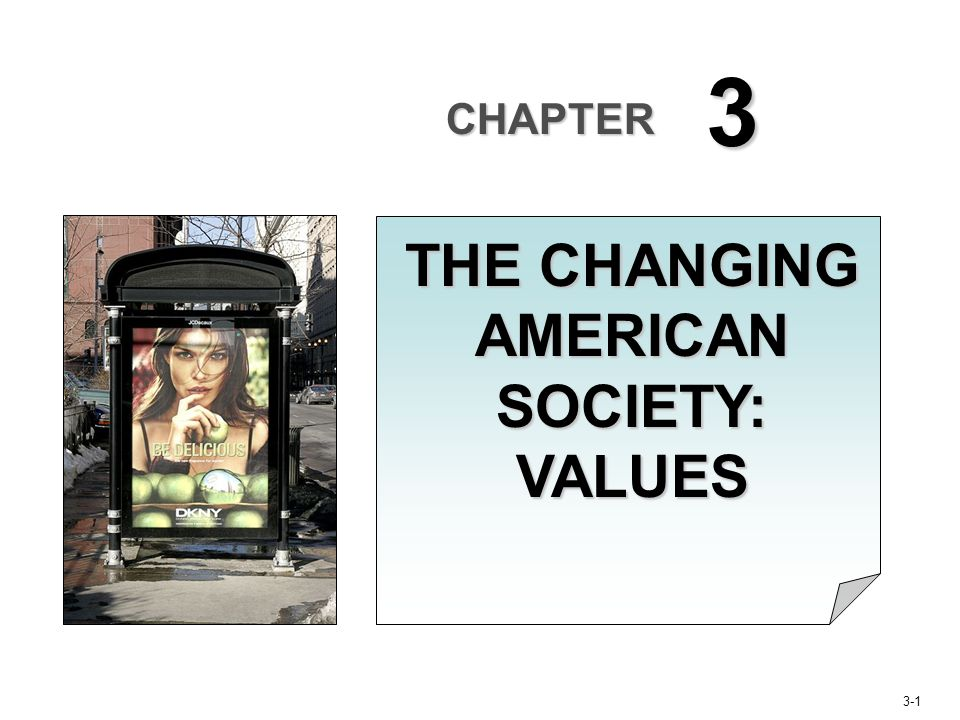 3-22 Changes in American Cultural Values Reflect a society's view of the appropriate relationships between individuals and groups within that society.