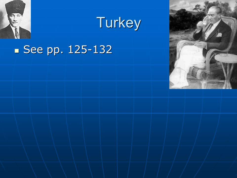 Turkey See pp. 125-132 See pp. 125-132