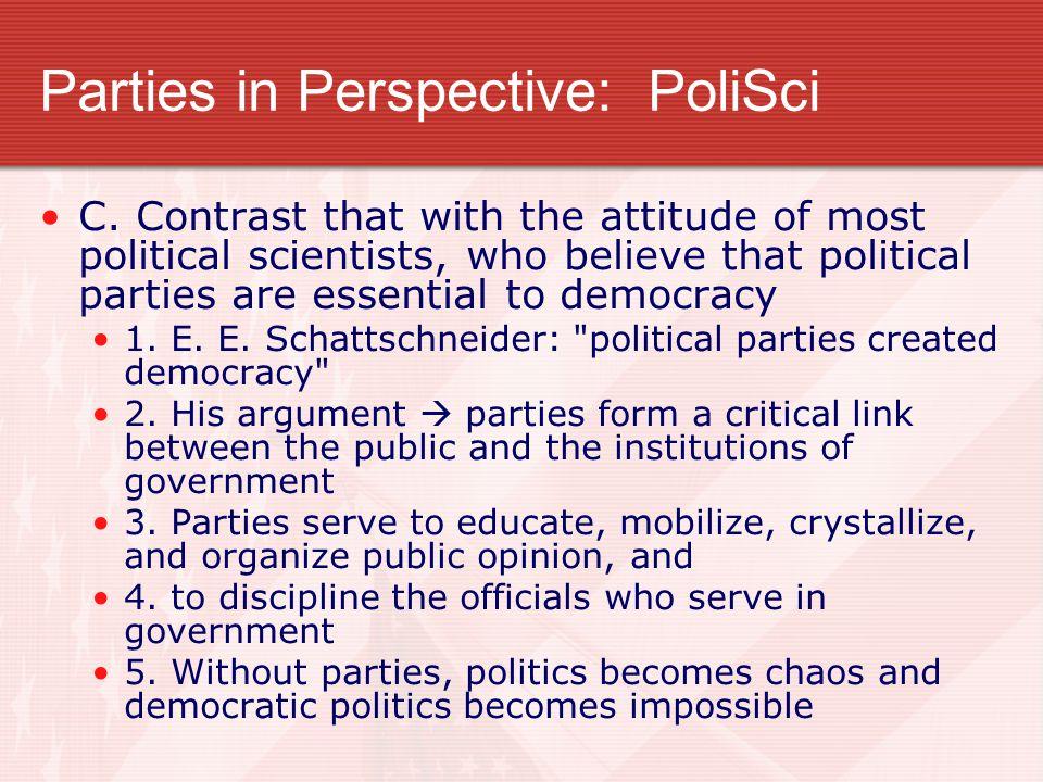 Parties in Perspective: PoliSci C.