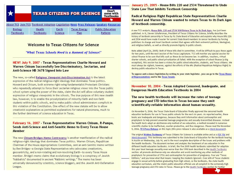 Chisum Apologized for a Memo's Anti-Semitic Content, But Not Its Anti-Science Content.