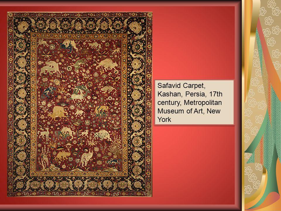 Safavid Carpet, Kashan, Persia, 17th century, Metropolitan Museum of Art, New York