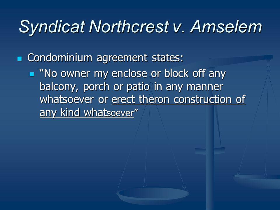 Syndicat Northcrest v.