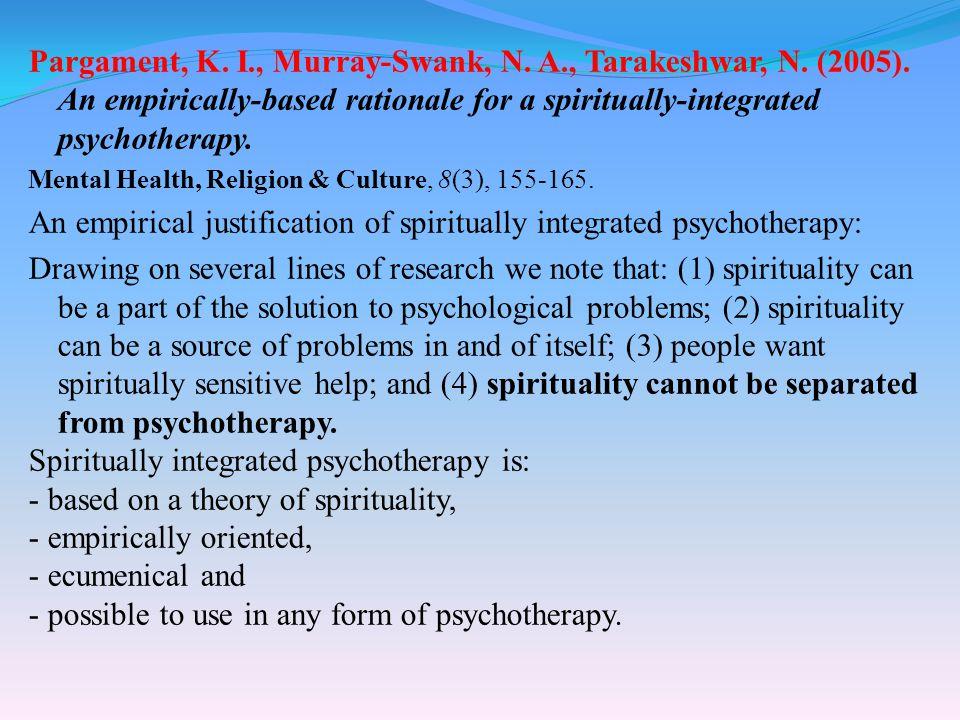 Pargament, K. I., Murray-Swank, N. A., Tarakeshwar, N.