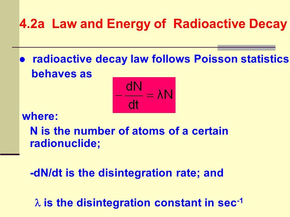 1 kilobecquerel (kBq) = 10 3 Bq 1 megabecquerel (MBq) = 10 6 Bq 1 gigabecquerel (GBq) = 10 9 Bq 1 terabecquerel (TBq) = 10 12 Bq 1 millicurie (mCi) = 10 -3 Ci 1 microcurie (μCi = 10 -6 Ci 1 nanocurie (nCi) = 10 -9 Ci 1 picocurie (pCi) = 10 -12 Ci 1 femtocurie (fCi) = 10 -15 Ci 1 Ci = 3.7  10 10 Bq 4.2d Activity