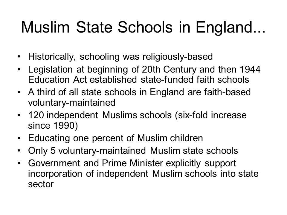 Muslim State Schools in England...