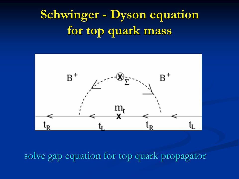 Schwinger - Dyson equation for top quark mass solve gap equation for top quark propagator