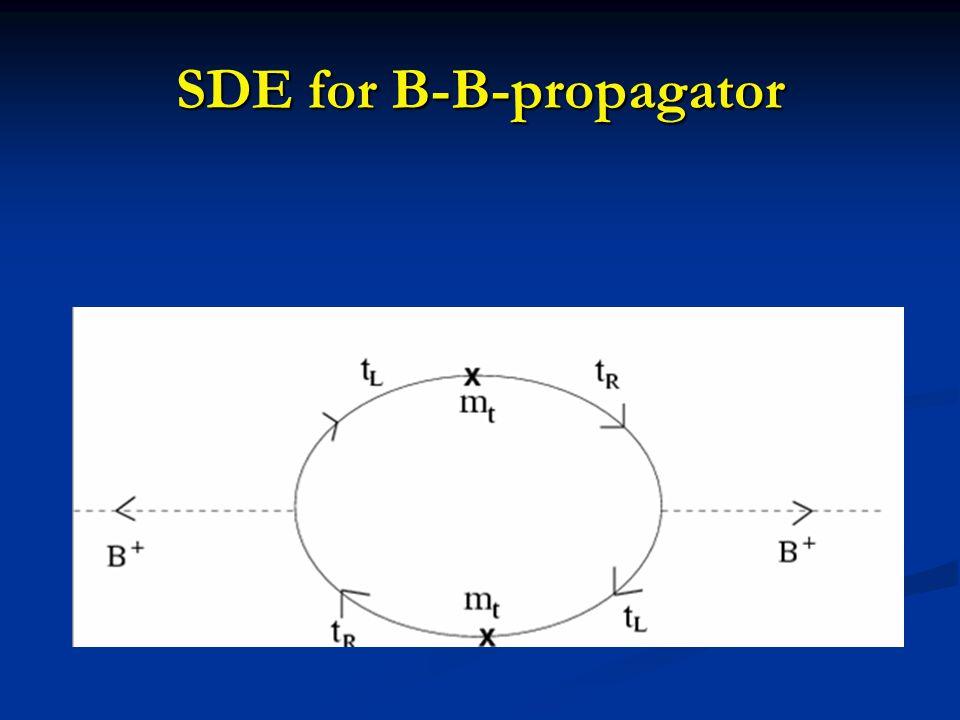 SDE for B-B-propagator