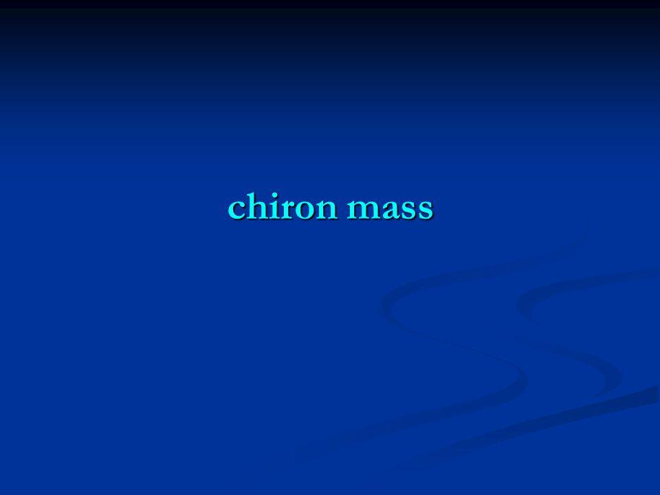 chiron mass