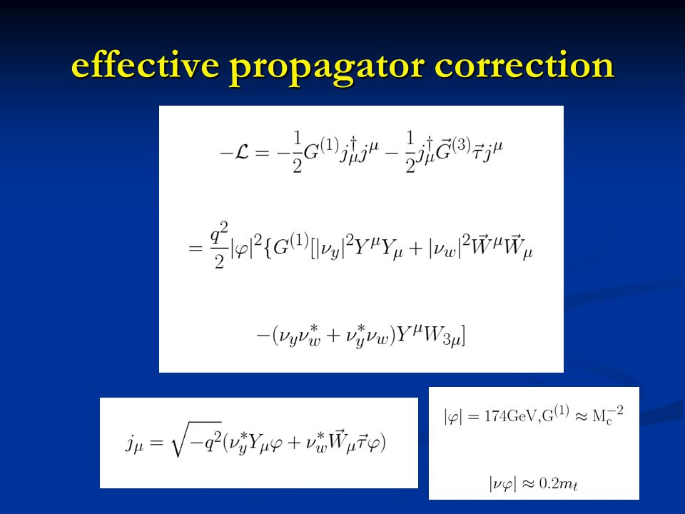 effective propagator correction