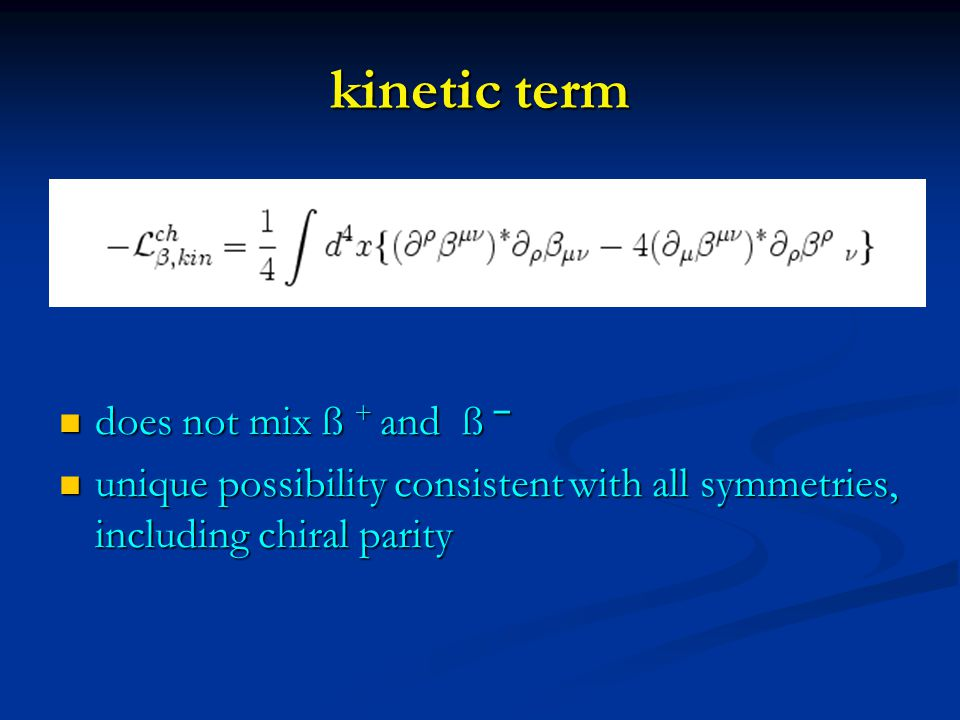 consistency of chiral tensors ?