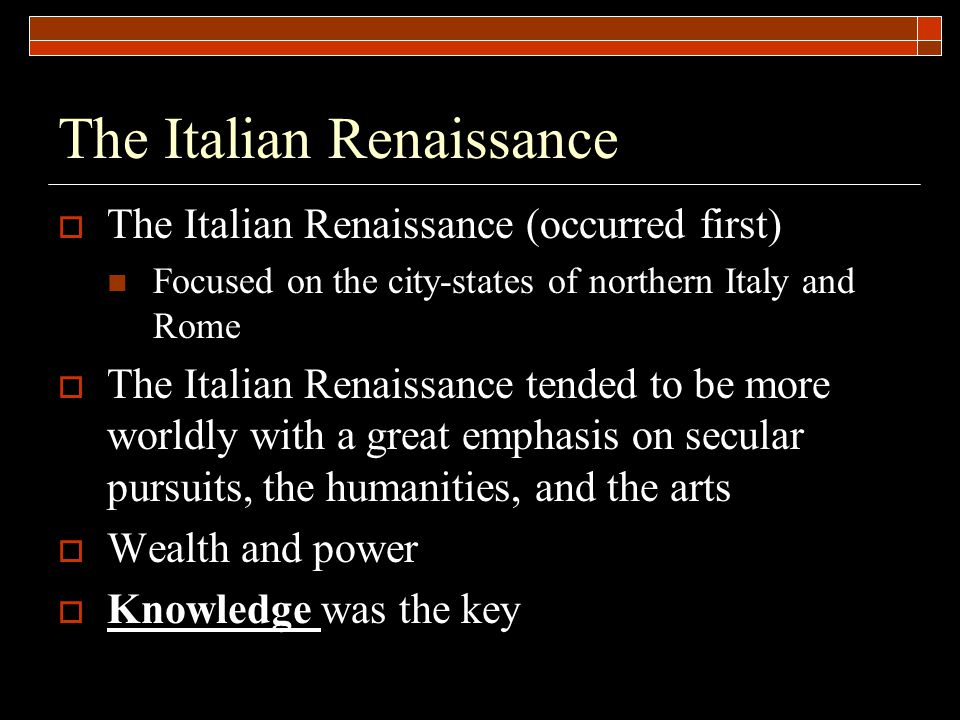 Renaissance Art A reflection of Renaissance ideals and values Emphasis on the classical style and classical themes Humanistic - with an emphasis on the individual Religious art remained very important