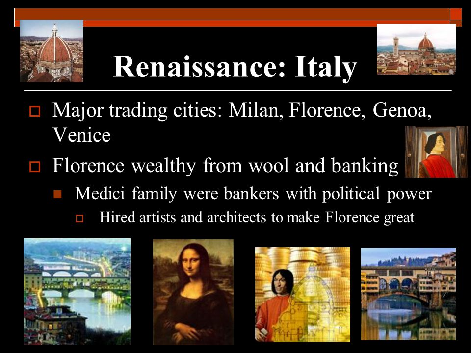 Characteristics of Renaissance Art Realism Three-dimensional Balanced and ordered Portraits Landscapes and attention to depictions of nature Classical style Depiction of classical themes and stories