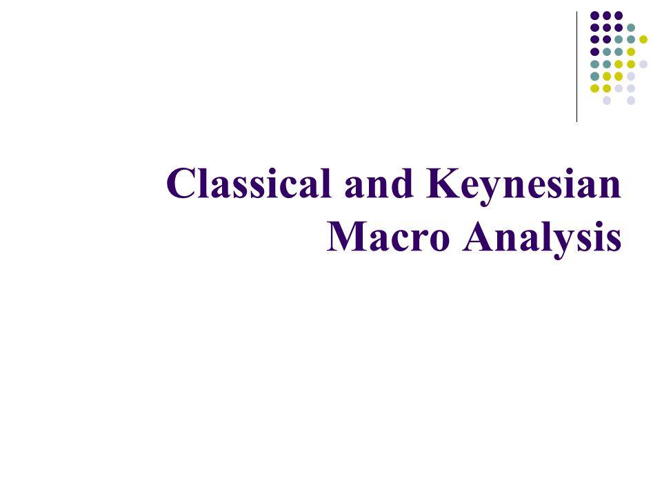 Classical and Keynesian Macro Analysis