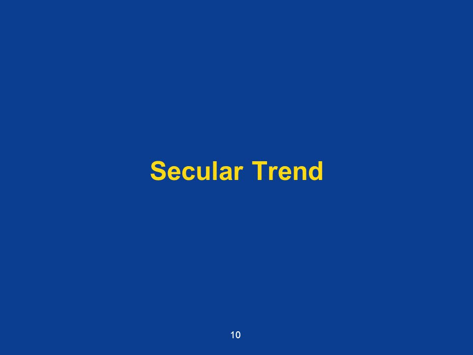 Secular Trend 10
