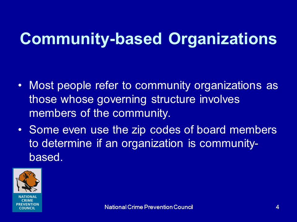 National Crime Prevention Council25 Resources List of intermediaries Yearbook of American and Canadian Churches (National Council of Churches) Federal Funds for Organizations that Help Those in Need (White House) Changing Communities through Faith in Action (NCPC) Community Service Block Grants