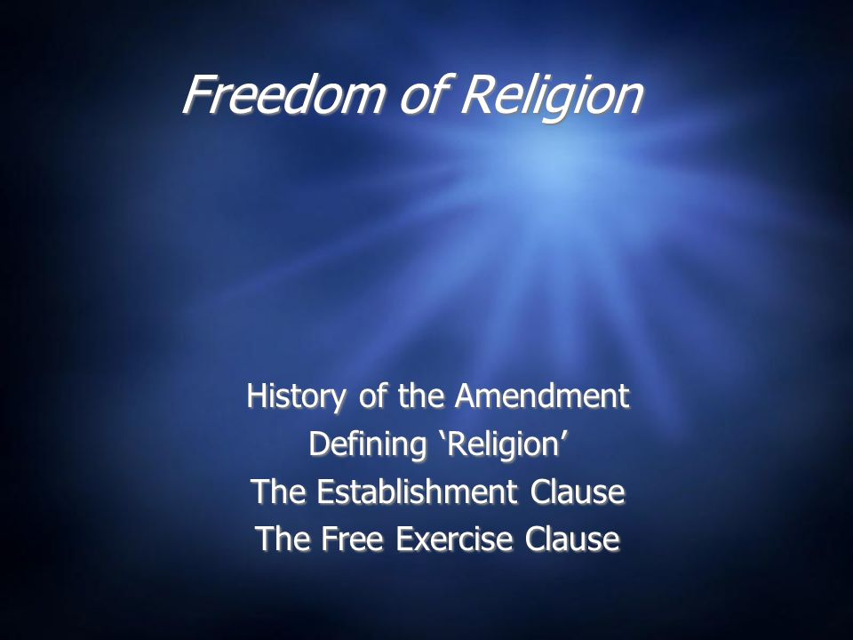 Religion Clauses of the First Amendment  Congress shall make not law respecting an establishment of religion, or prohibiting the free exercise thereof. The Jeffersonian faction demanded a Bill of Rights to be added to the Constitution signed by delegates in 1787.