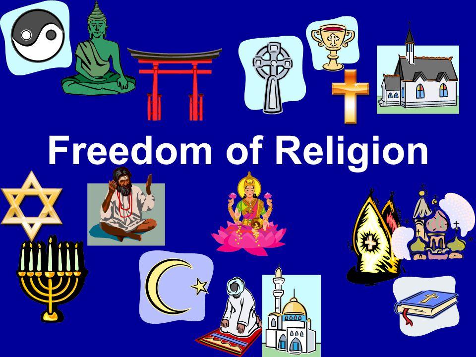 Freedom of Religion 1 st Amendment 1.Establishment Clause 2.Free Exercise Clause