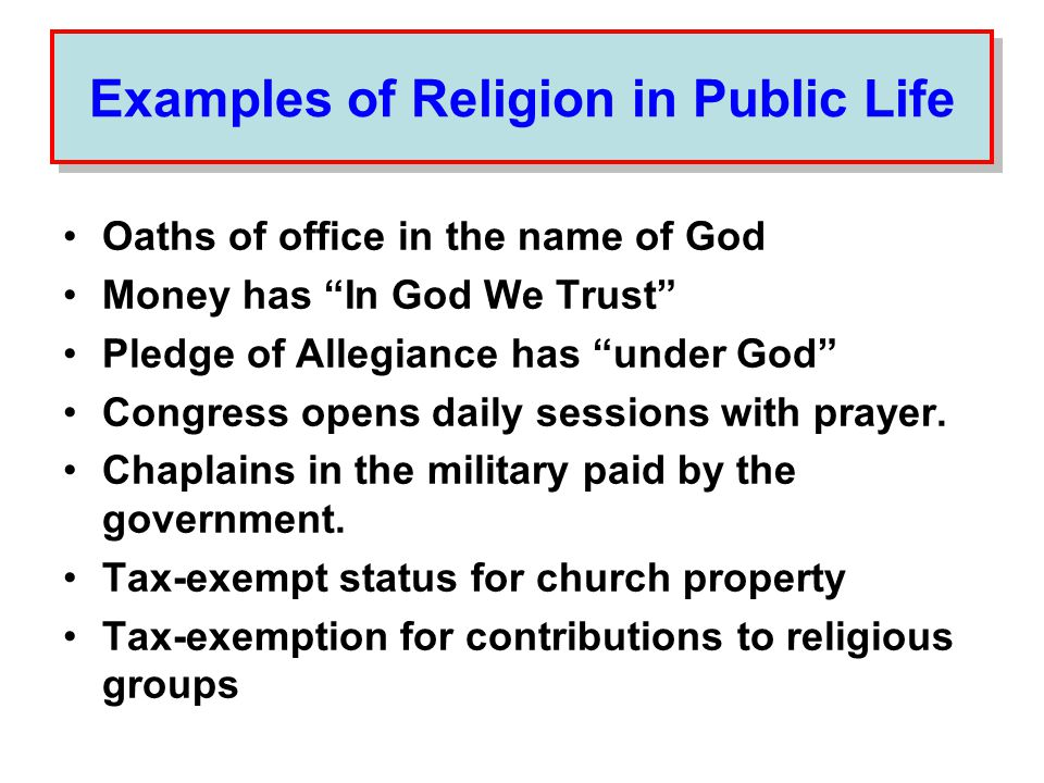 At what point might this involvement of religion in public life come to an end.