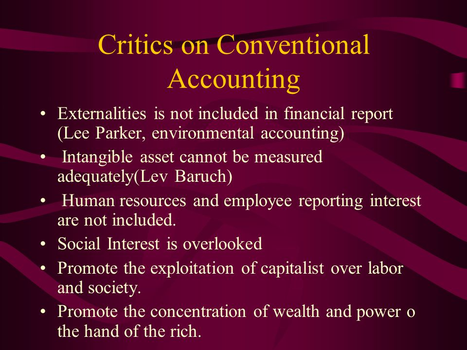 Conventional vs Islamic Accounting: (Boudyn and Willet, Islamic Corporate Reports, Abacus, Vol.