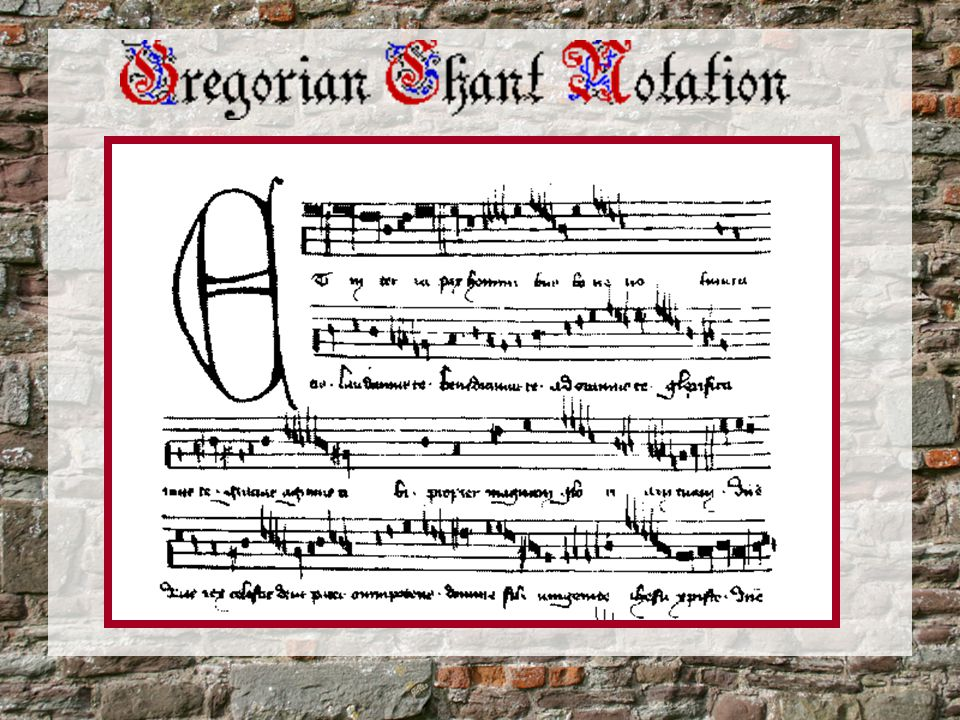 Polyphonic Notation In polyphonic notation, many voices can share a staff: Then… Now…