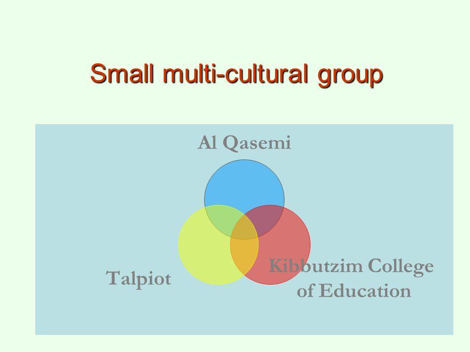 Small multi-cultural group Al Qasemi Kibbutzim College of Education Talpiot