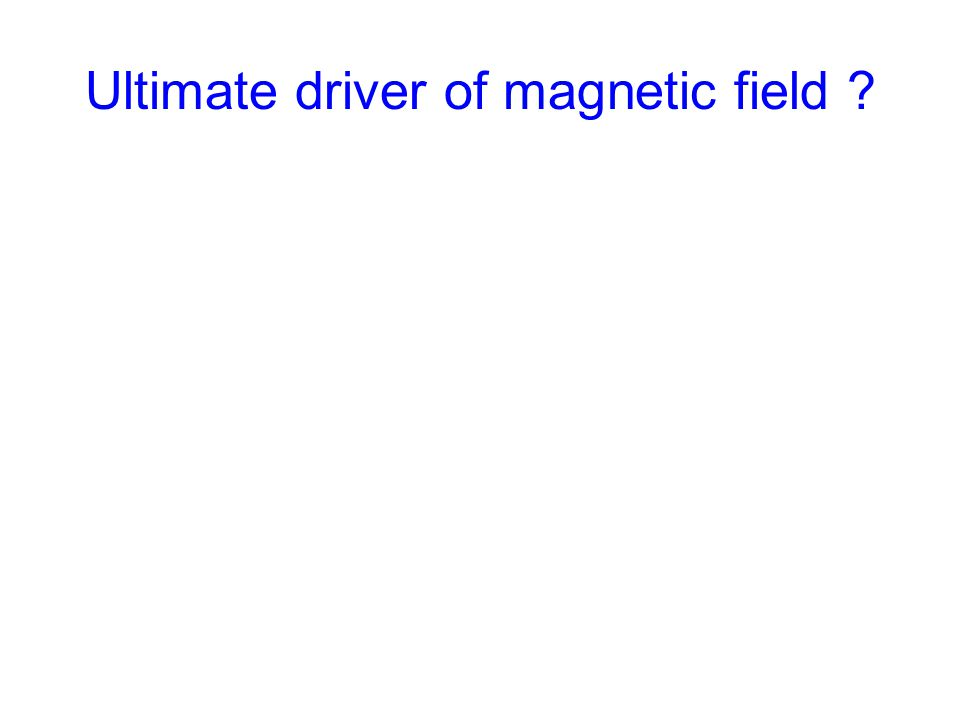 Ultimate driver of magnetic field