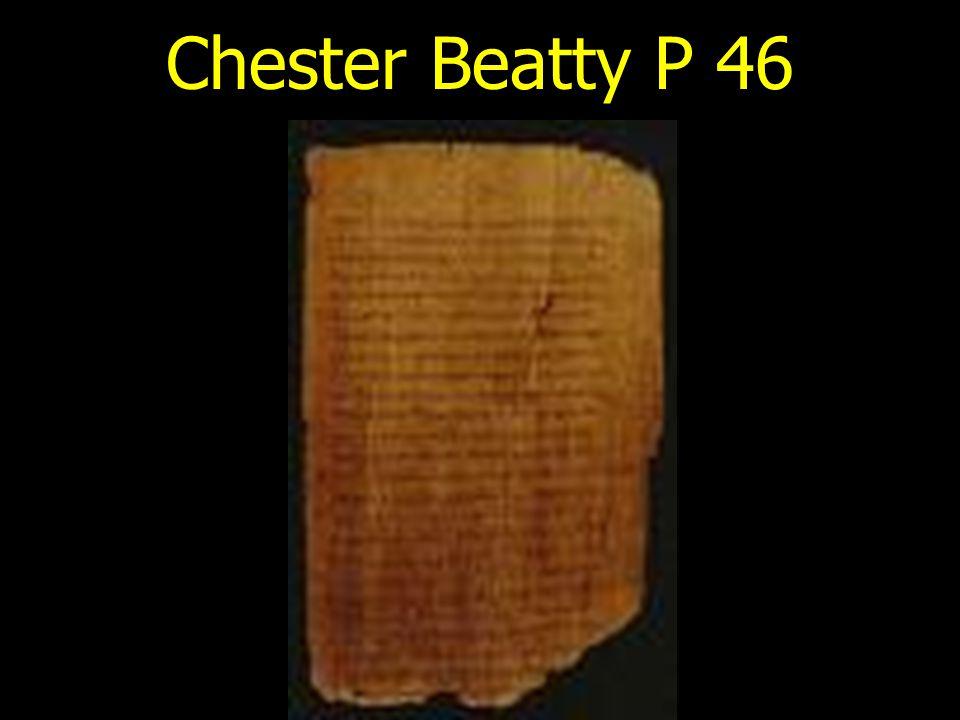 Chester Beatty P 46