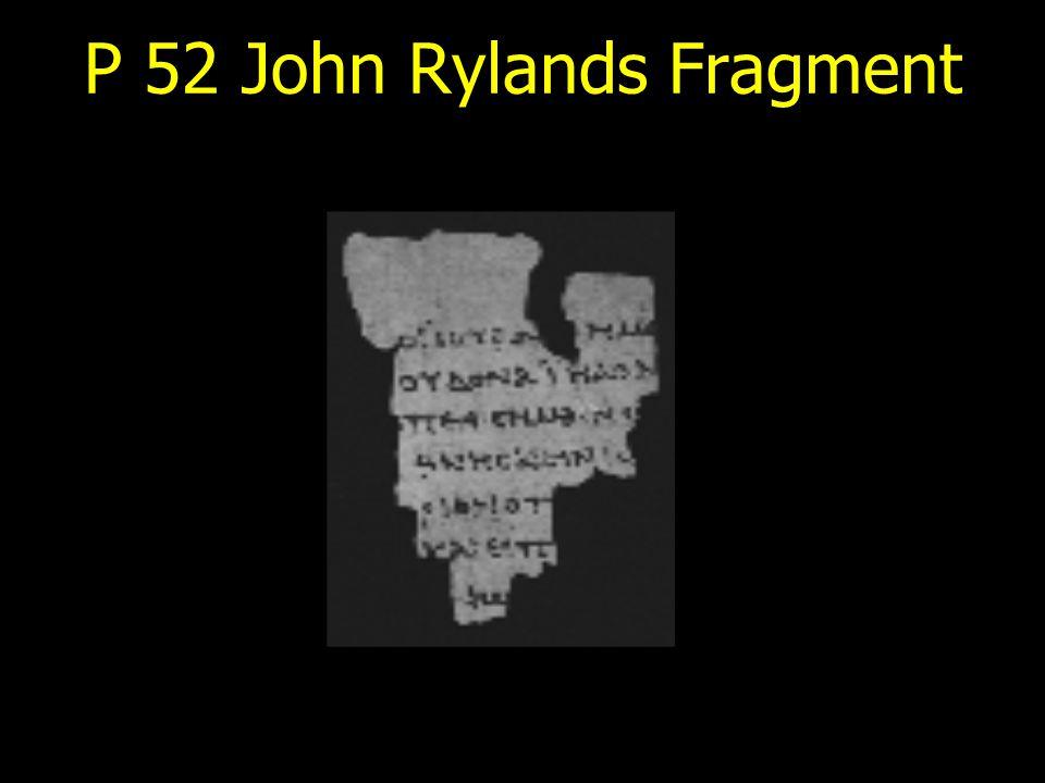 P 52 John Rylands Fragment