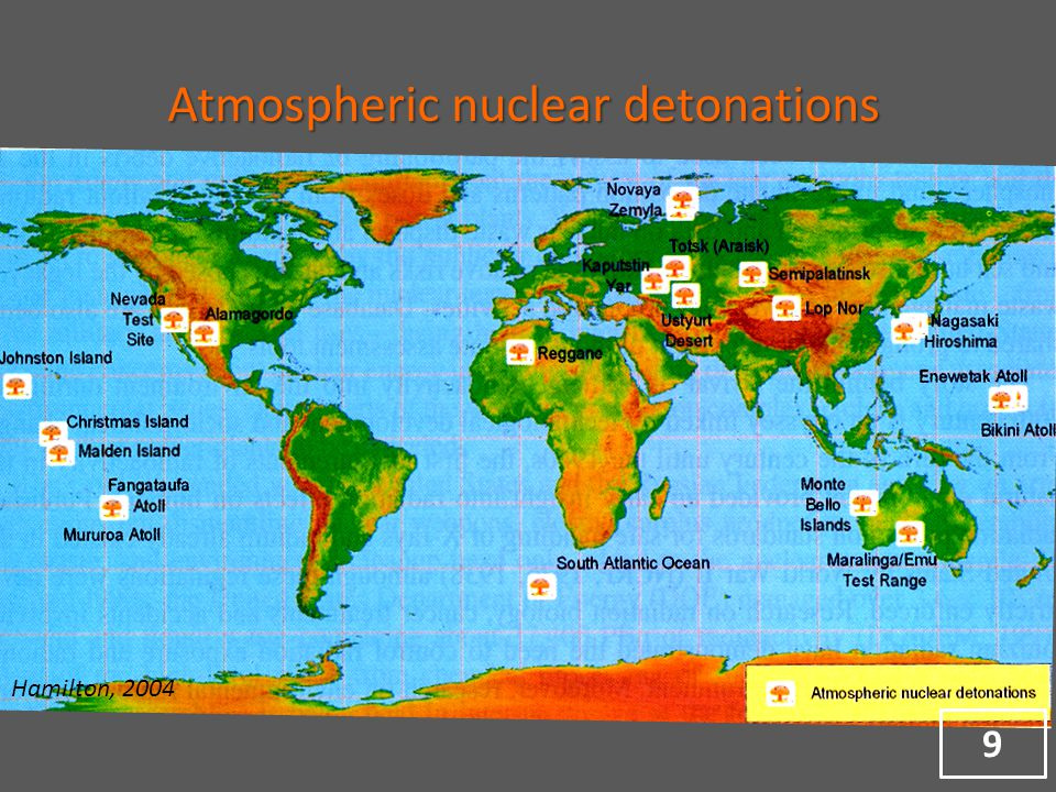 Hamilton, 2004 Atmospheric nuclear detonations 9