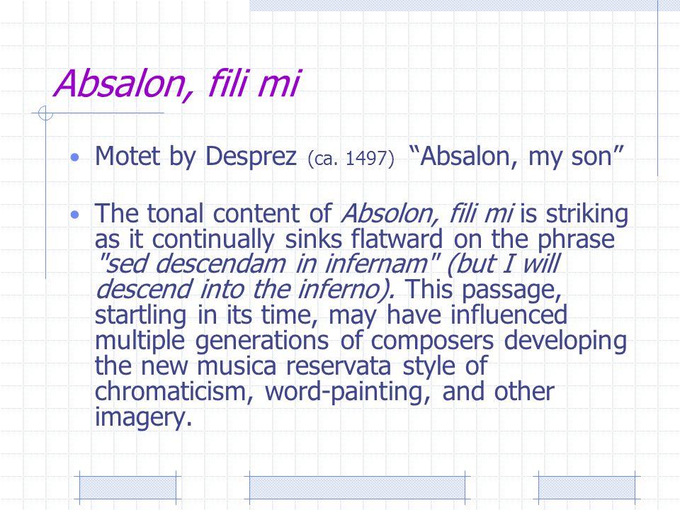Absalon, fili mi Motet by Desprez (ca.