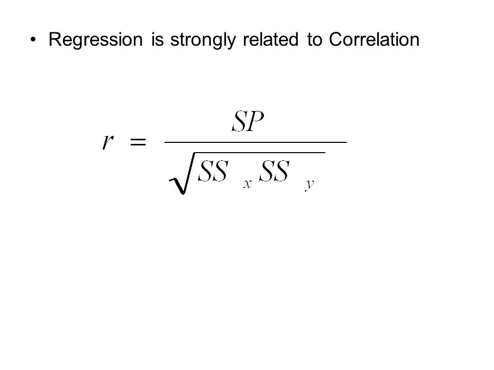 Regression is strongly related to Correlation