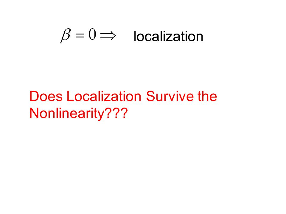 Does Localization Survive the Nonlinearity??? localization