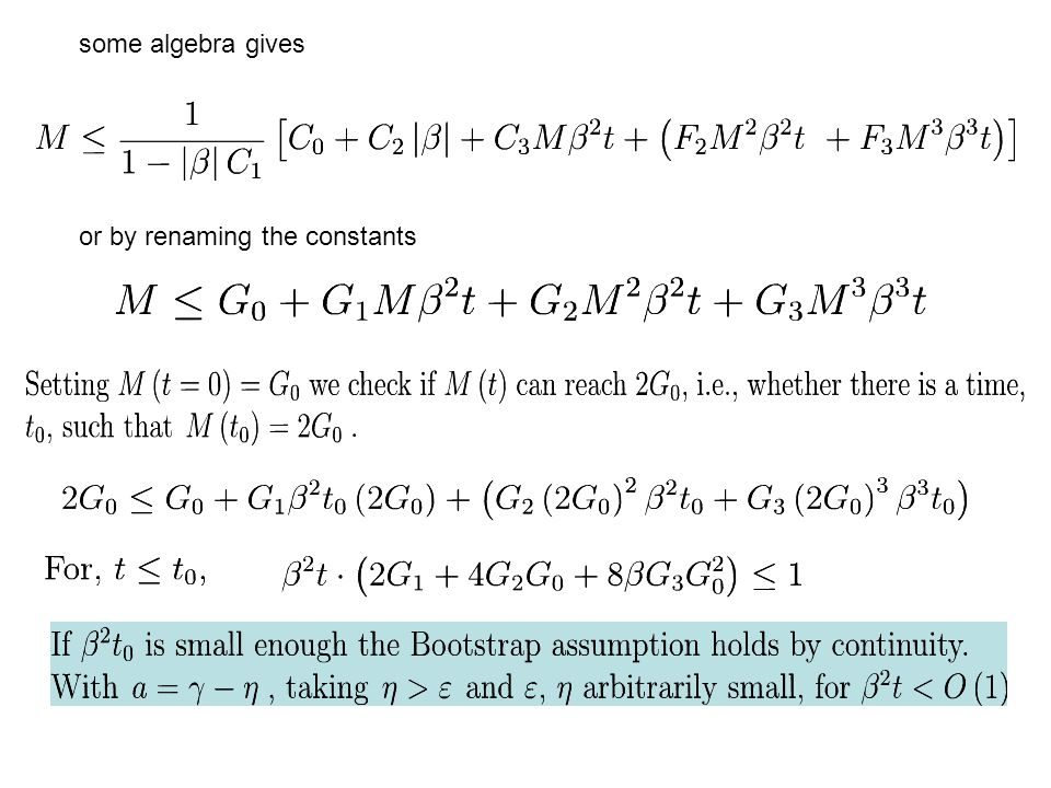 some algebra gives or by renaming the constants