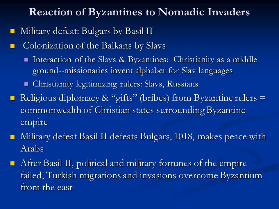 Reaction of Europe to Nomadic Threat Long isolated from Eurasia, Western Europe develops a siege mentality Long isolated from Eurasia, Western Europe develops a siege mentality Crusade as important turning point for Europeans involvement in Mideast, Islamic/Byzantine regipms Crusade as important turning point for Europeans involvement in Mideast, Islamic/Byzantine regipms Europe incorporates two groups of nomadic raiders by 1000: Magyars and Vikings.
