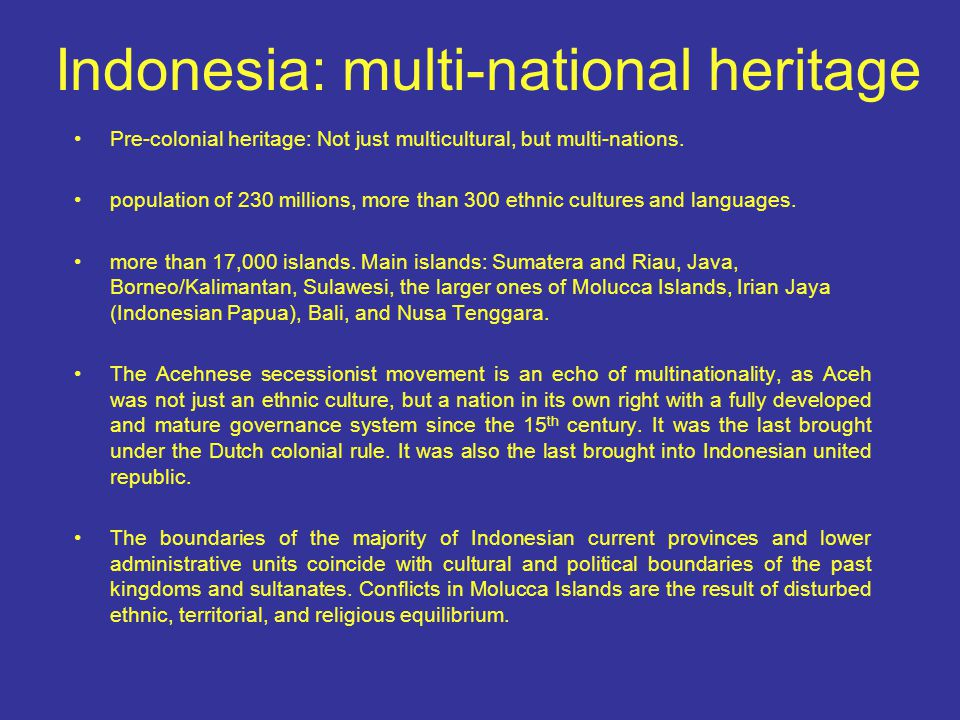 Indonesia: a history of secular vs.