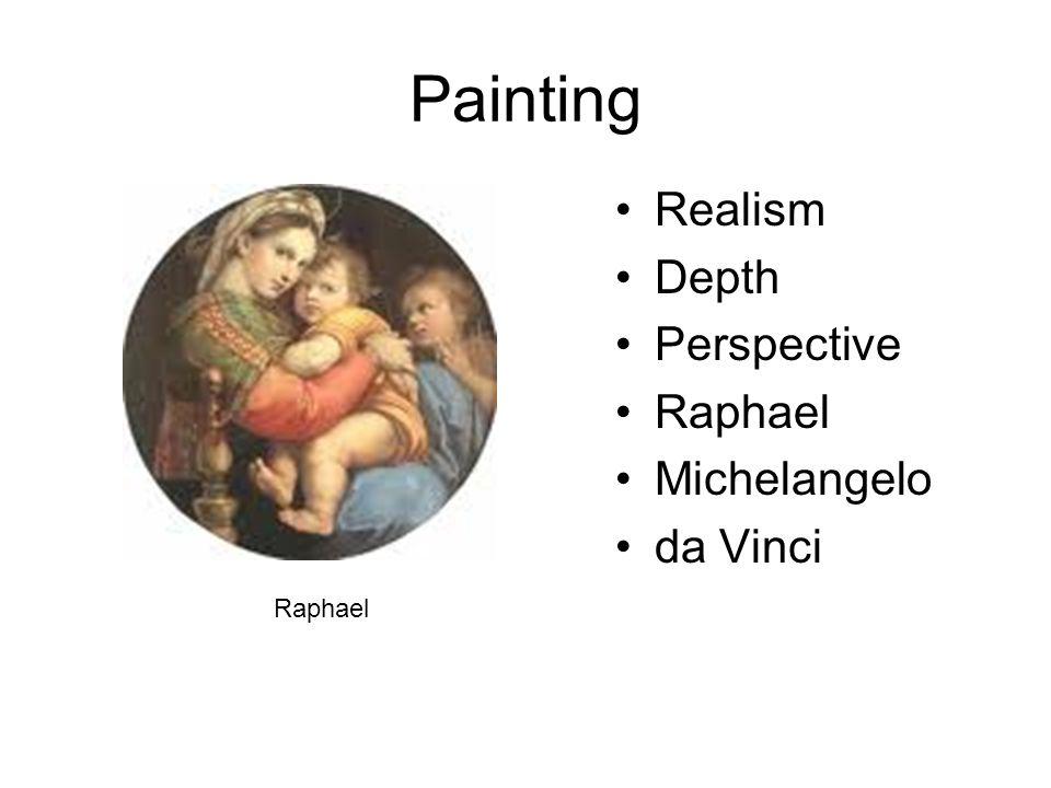 Painting Realism Depth Perspective Raphael Michelangelo da Vinci Raphael