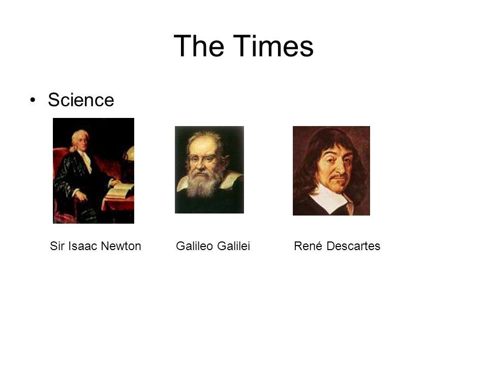 The Times Science Sir Isaac NewtonGalileo GalileiRené Descartes