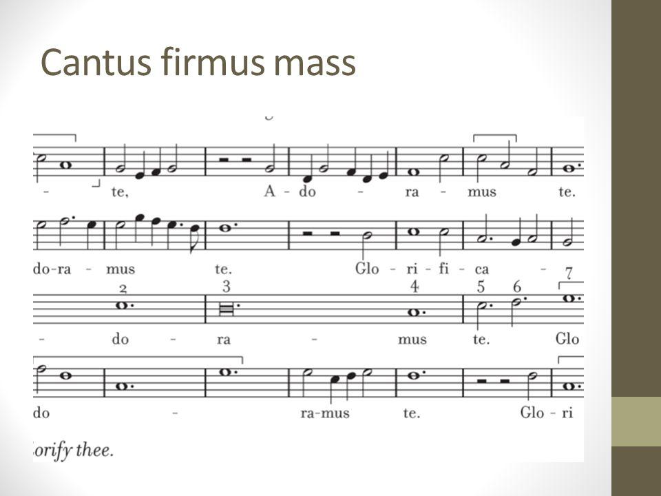 Cantus firmus mass