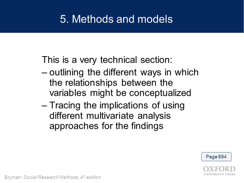 Bryman: Social Research Methods, 4 th edition 5.