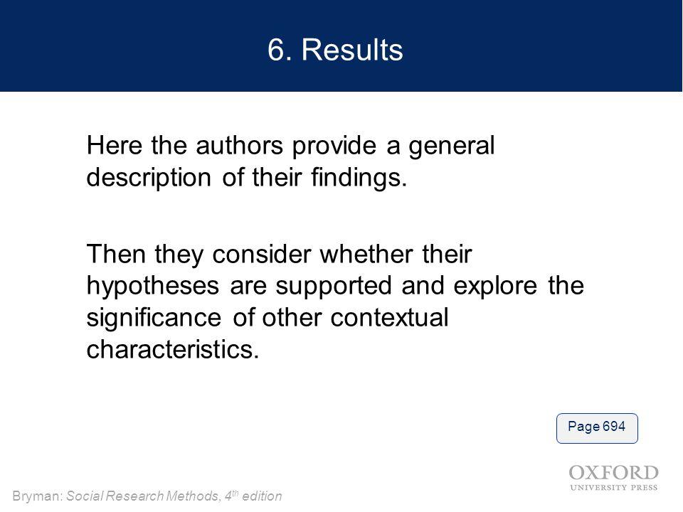 Bryman: Social Research Methods, 4 th edition 6.