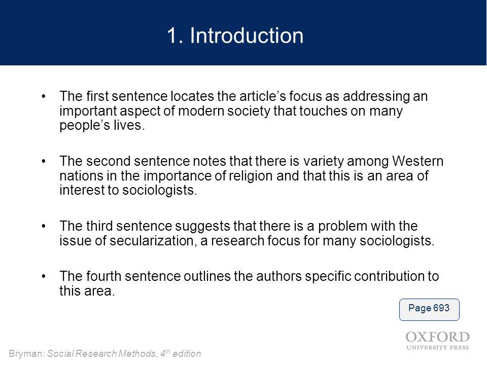 Bryman: Social Research Methods, 4 th edition 1.