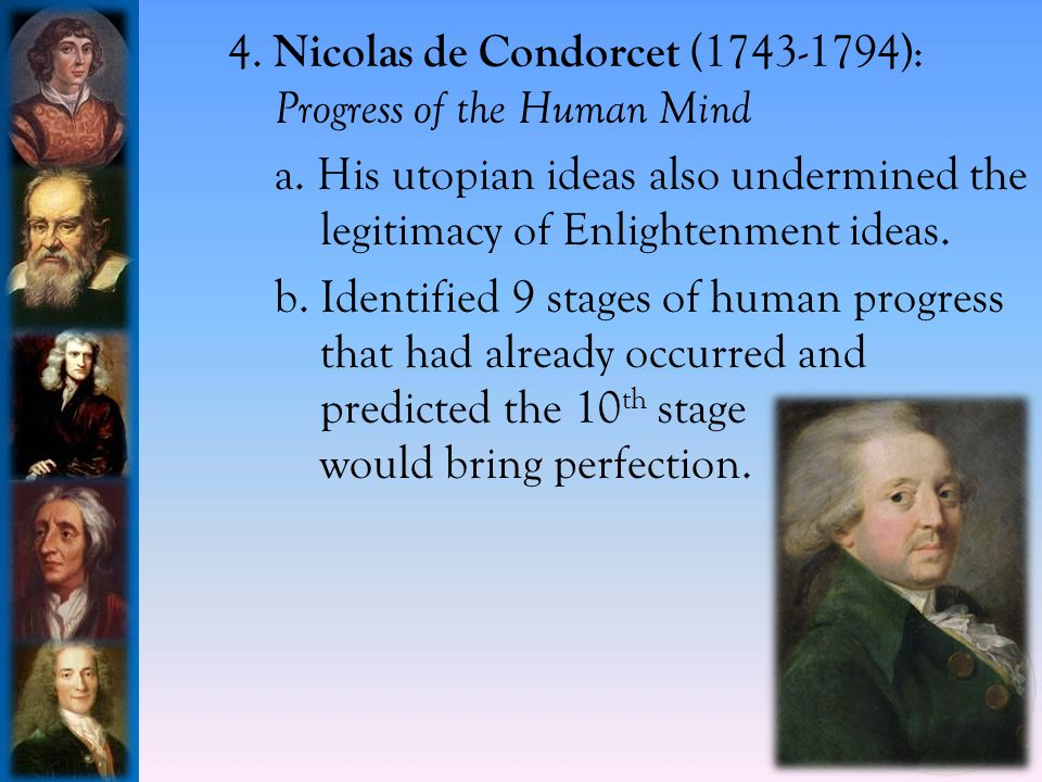 4.Nicolas de Condorcet (1743-1794): Progress of the Human Mind a.